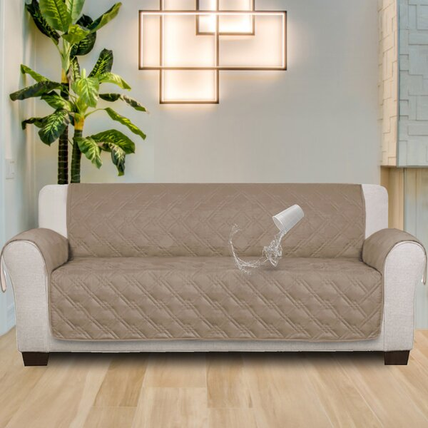 100% Waterproof Non-Slip Box Cushion Sofa Slipcover by Red Barrel Studio
